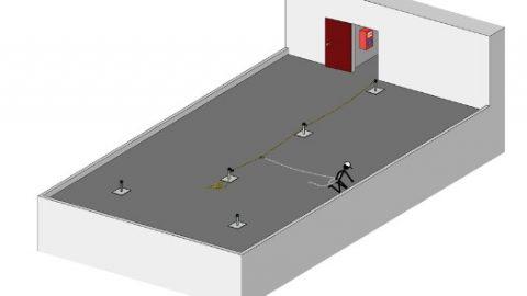 Skizze-Nutzung-ABS-Lanyard-temporaeres-Seilsystem
